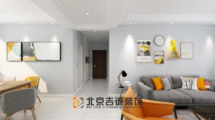 [装修案例]荆门长龙中央公园123平米现代风格装修效果图 舒适优雅的品质生活