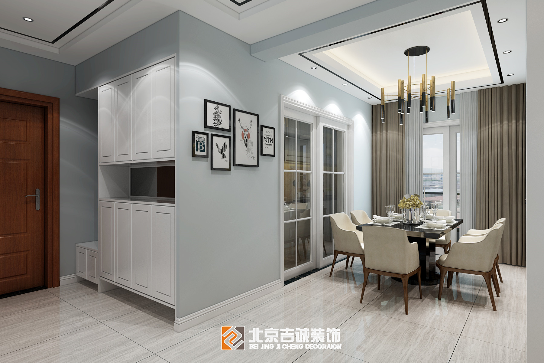 [装修案例]荆门荆门西山林语124平米现代风格装修效果图 黑白灰的高冷时尚