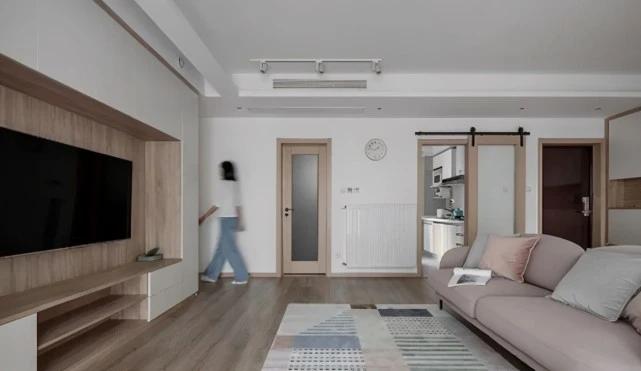 [装修案例]110平米四居室装修效果图 看看流行的莫兰迪色系 超级治愈